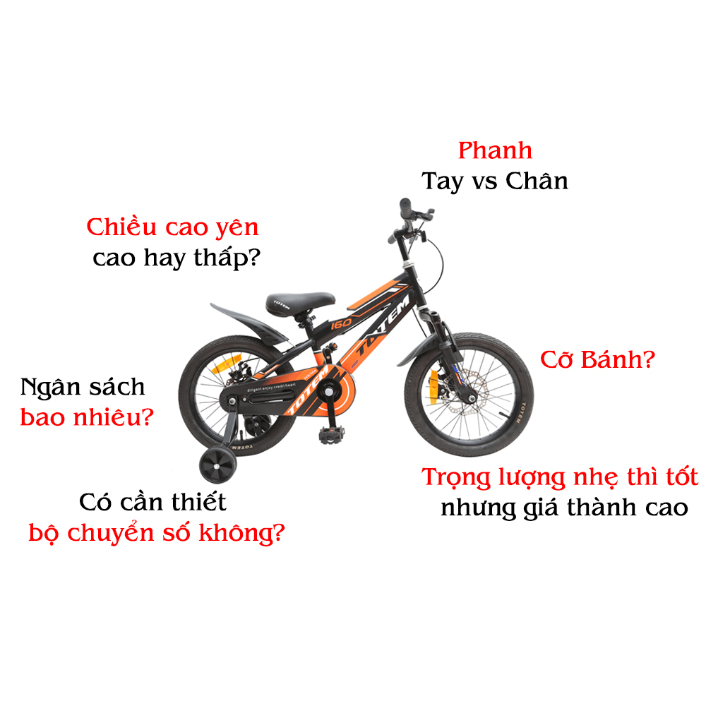 kinh nghiệm mua xe đạp trẻ em